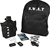 Kids SWAT 5 pce Play Set, All Quality Items, Backpack, Canteen, Dog Tags, Notebook, Whistle