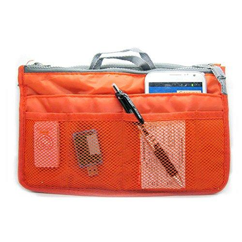 - Large Purse Organizer Insert Handbag Pouch Tidy & Neat (Ships From USA) (Orange)