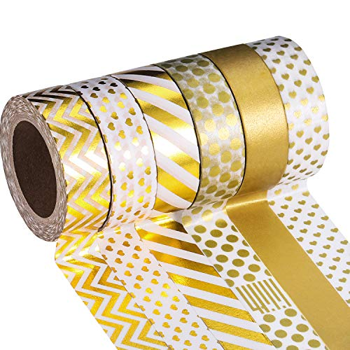 Mudder Washi Masking Tape Collection, Pack of 6 (Color Set (Pattern Decorative Masking Tape)