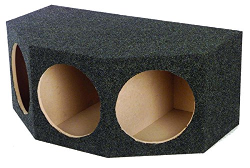 Angled Enclosure Box - Q Power BASS12 3HOLE Angled 12-Inch Speaker Box