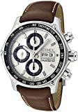 Ebel 1911 Discovery Chronograph 1215797 Steel Mens Strap Watch DOW Calendar 9750L62/63B35P11