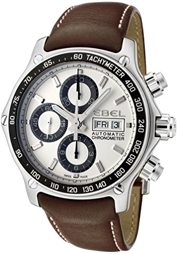 Ebel-1911-Discovery-Chronograph-1215797-Steel-Mens-Strap-Watch-DOW-Calendar-9750L6263B35P11