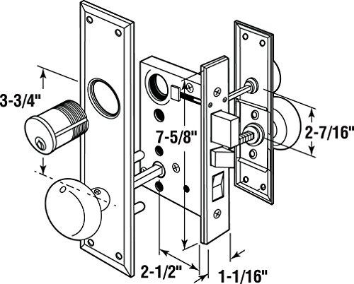 Segal Se 27590 Entrance Mortise Lockset 2 12 In Backset Wrought
