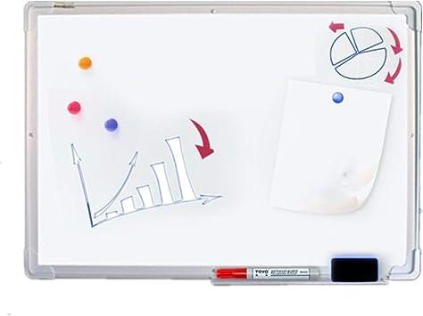 Blanco tarjeta seca Wipe marco de aluminio de plata pizarra plástico ABS esquina de la oficina principal for los ...