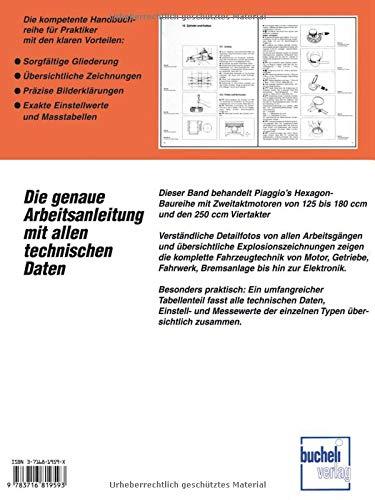PräZise Reparaturanleitung Piaggio Sfera Typhoon Fly Skipper Hexagon Vespa Et 2 4 Gt Gtv Sachbücher