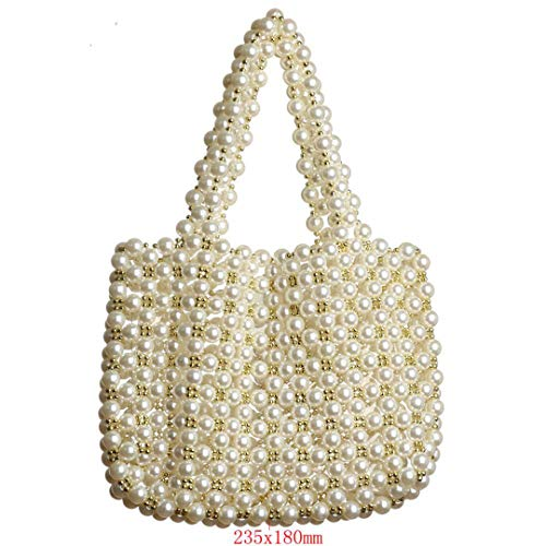Pearl Bags H made H bag Hollow Pearl Purse Women Beach Bag Prom Clutch Bags off white