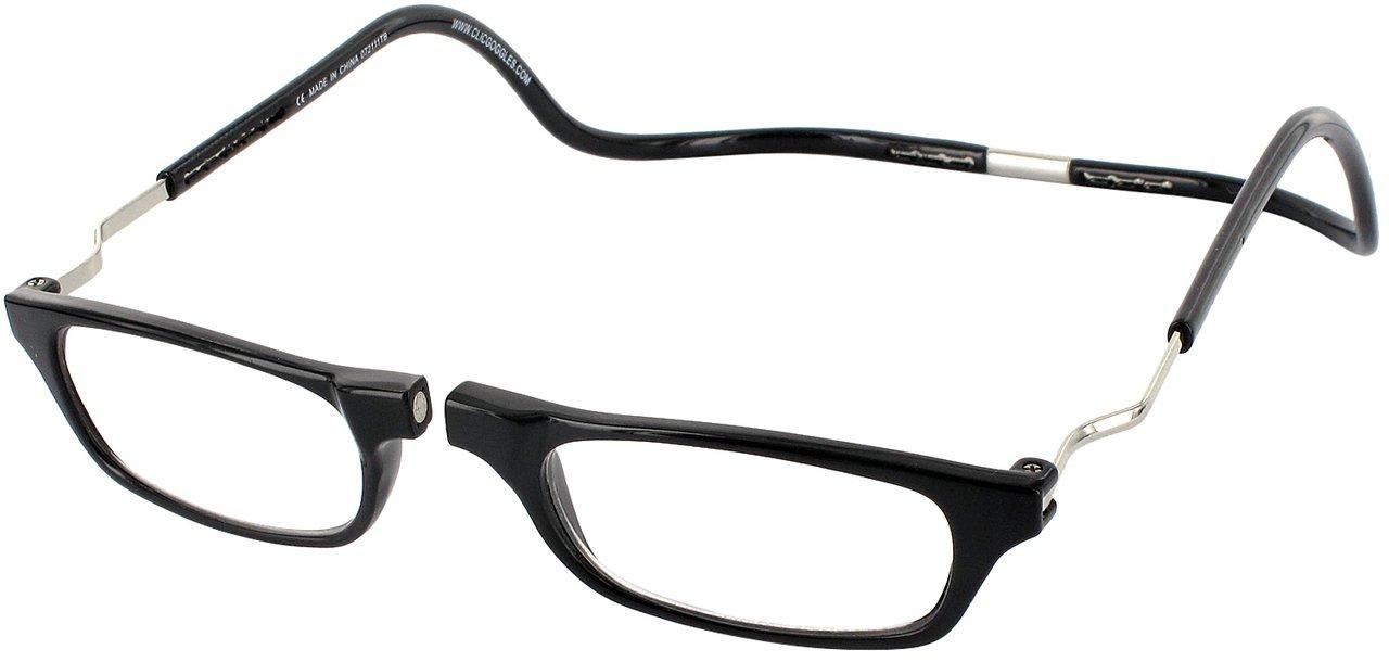 Clic Magnetic XXL Reading Glasses in black, +2.00