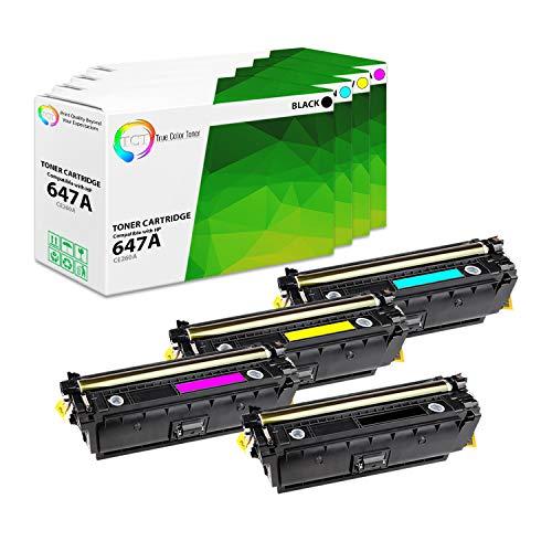 TCT Premium Compatible Toner Cartridge Replacement for HP 647A 648A CE260A CE261A CE262A CE263A Works with HP Color Laserjet CP4520 CP4025 CP4525 Printers (Black, Cyan, Magenta, Yellow) - 4 - Yellow Cartridge 648a
