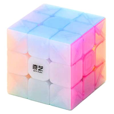 cuberspeed QiYi Warrior W 3x3 Jelly Cube Puzzle Warrior W 3x3x3 Jelly Magic Cube: Toys & Games