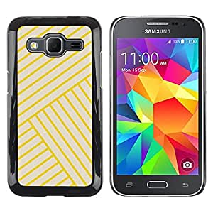 iKiki Tech / Estuche rígido - Stripes Lines Yellow Angle Tile - Samsung Galaxy Core Prime SM-G360