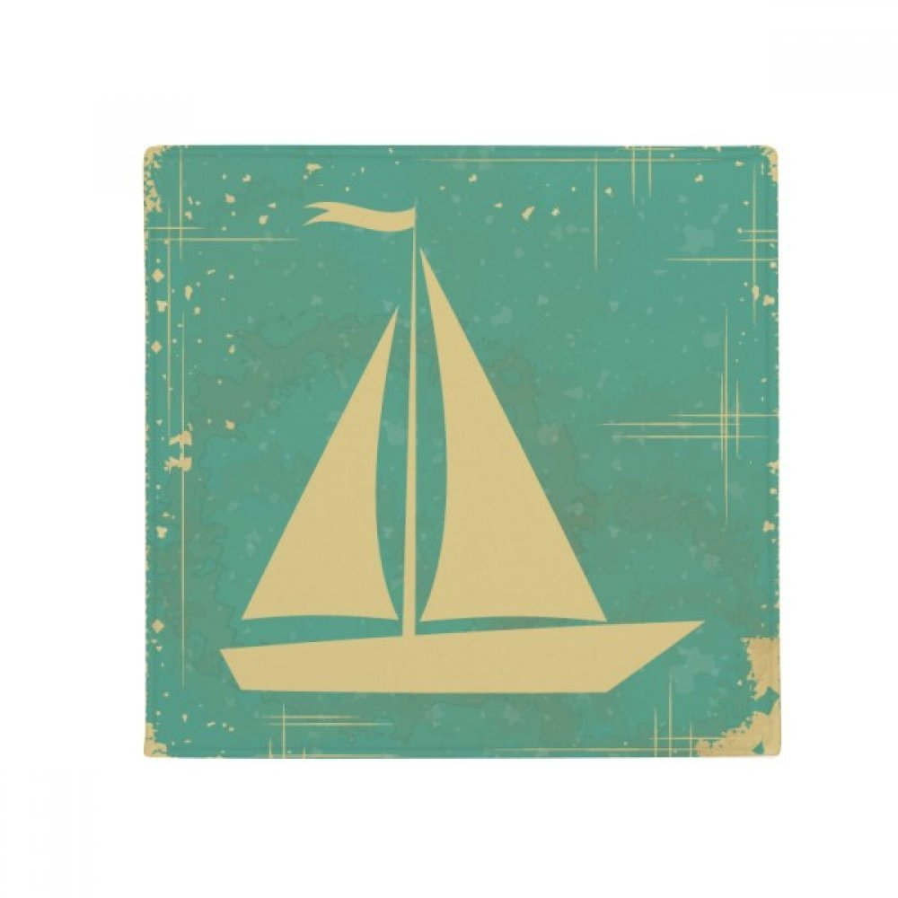 DIYthinker Sport Sailing Illustration bluee Pattern Anti-Slip Floor Pet Mat Square Home Kitchen Door 80Cm Gift