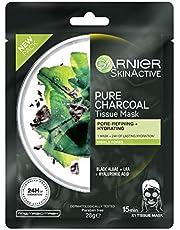 Garnier SkinActive Pure Charcoal Tissue Face Mask Black Algae