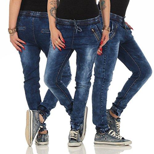 Bleu empire Jeans XS Taille Schwarz 36 bleu Fashion4Young Femme PgUqxx