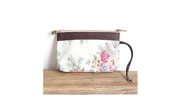ZSBBshop Bolso Bolsa de algodón y Lino, un pequeño Lienzo Fresco, un Bolso, una Bolsa de cosméticos y un teléfono de Bolsillo, 15 Flores Blancas: Amazon.es: Deportes y aire libre