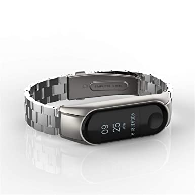 Amazon.com: Lnicesky Watch for Xiaomi Mi Band 3 Fashion Stainless Steel Luxury Wrist Strap Metal Wristband: Clothing