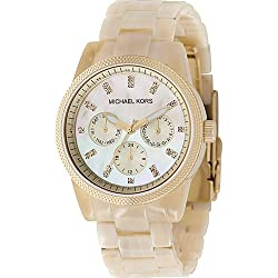 Michael Kors Watches Acrylic Horn Chronograph with Stones Watch from Michael Kors Watches