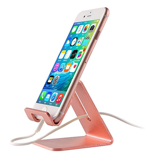 Cell Phone Stand, FeBite Universal iPhone Dock Cradle Smartphone Holder for Desk Charger Compatible with iPhone 7 6 6S plus 5S SE iPad Air Pro Mini 1 2 3 Android Samsung Galaxy S7 S6 Edge