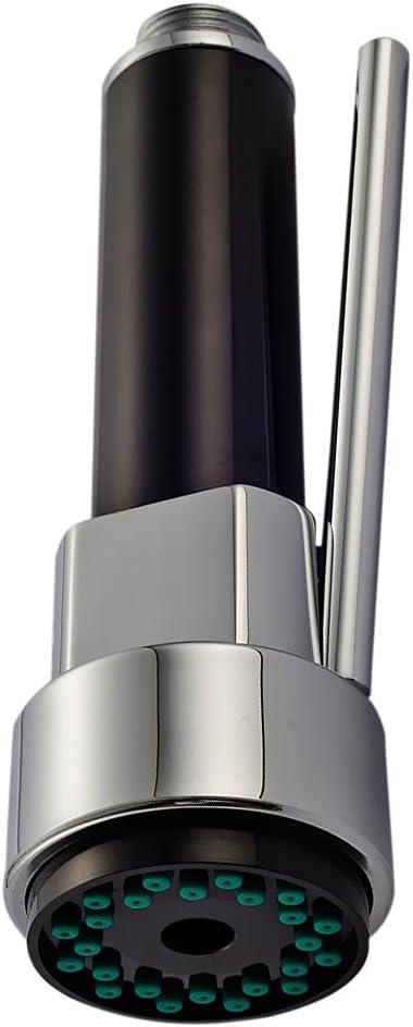 Accessoires pour extracteur de robinet d/évier de cuisine Interrupteur /à bouton de trompette Pomme de douche multifonction Fournitures de douche domestique-Argent
