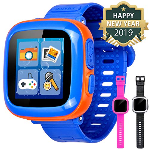 GBD Game Smart Watch for Kids Girls Boys with Camera 1.5'' Touch 10 Games Pedometer Timer Alarm Clock Electronic Learning Toys Wrist Watch Bracelet Health Monitor for Holiday Birthday Gifts (Blue)