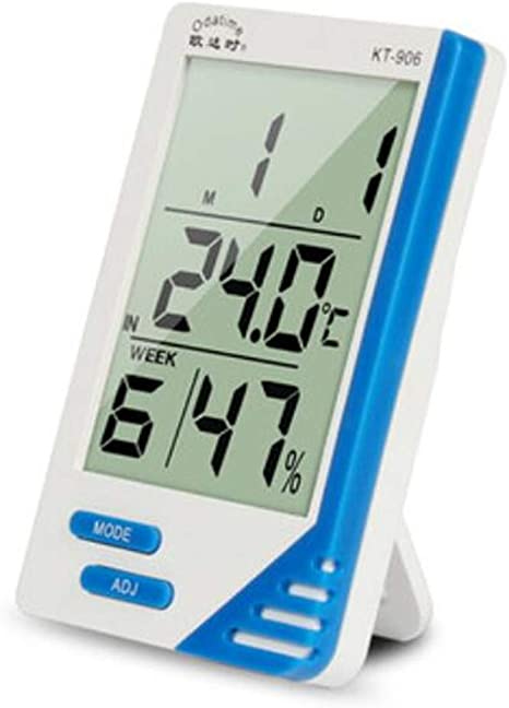 Higrometro Digital Termometro Higrometro Digital Relojes Jardin Hogar Hogar Higrómetro Electrónico Del Sitio Del Bebé Interior Del Dormitorio De Precisión Del Reloj De Alarma: Amazon.es: Bebé