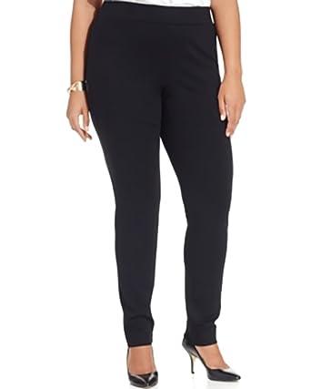 56325087f53 INC International Concepts Plus Size Ponte Pull-on Straight-Leg Pants (14W)