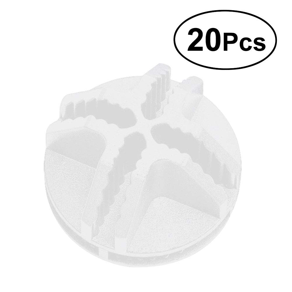 OUNONA 20 Pcs Grid Cube Connector Plastic Connectors for Wire Cube Storage Shelving White
