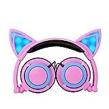 Katze-Ohr-Kopfhörer verdrahtete Geräusche, die faltbare Kopfhörer mit LED-Taschenlampen für Kinder löschen von Earth Safe