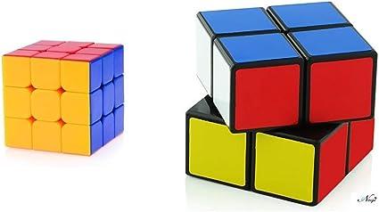Negi 3x3x3 Speed Cube & 2x2 Black Cube Puzzle Toys