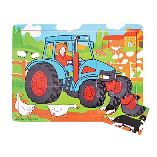 Bigjigs Toys BJ726 Tray Puzzle Tractor