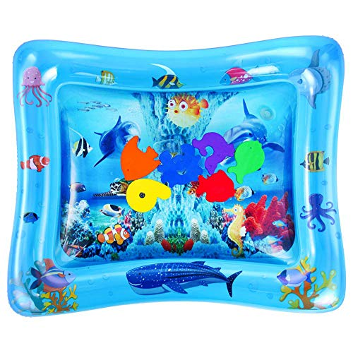 LeSharp Baby Water Mat, Baby Inflatable Tummy Water Padded Mat Aquarium Activity Center Cushion Toy Whale##