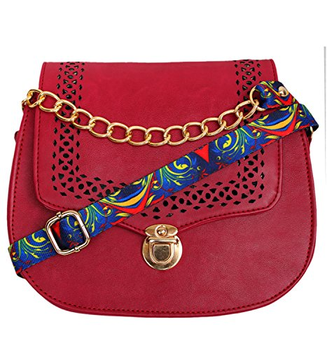 Classic Fashion Womens Red Color Sling Bag