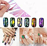 Nail Art Wrap Foils Nails Wraps Transfer Glitter Cakaco Shattered Glass DIY Decal