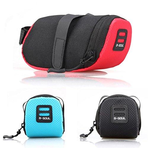 Boofab Nylon Bicycle Bag Cycling Bike Waterproof Storage Saddle Bag Seat Rear Pouch (C) (Foam Saddlebag)
