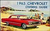 1963 Chevrolet Car Reprint Owner Manual Impala, SS, Biscayne, Bel Air