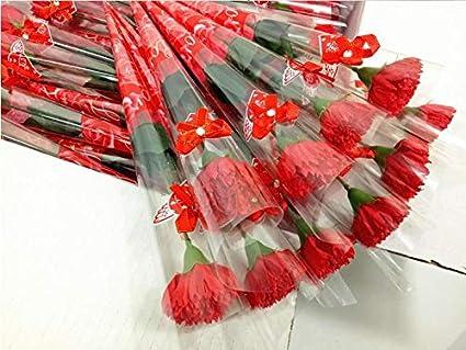 Amazon.com: Recuerdos de fiesta – Rosa clavel jabón flor de ...