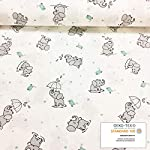Handywa-100-Cotton-Fitted-Crib-Sheet-Set-for-Baby-Toddler-Bed-Mattresses-Sweet-Unicorn-Grey-Elephants-White-Background-for-Boys-and-Girls-Soft-Breathable-2-Pack