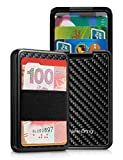 NewBring Credit Card Holder Wallet for Women and Men with Money Clip RFID Blocking Card Organizer Wallet for Business Cards and Cash (carbon fiber)