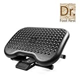 Adjustable Under Desk Ergonomic Foot Rest Foldable ABS Footstool for Office Home with 99.2 Pounds Max Load to Relieve Tendon Pain and Improve Blood Circulation - Black