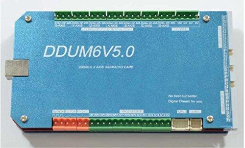 DDUMV5 6 Axis USB Mach3 Board 2000KHz CNC Machine Stepper Controls Drives  Card