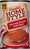 Campbell's Homestyle Harvest Tomato with Basil Soup is a smooth, delicious classic made from tomatoes and a hint of basil. Enjoy its rich flavor on its own or as a side to a salad or sandwich.