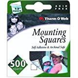 Thermoweb Mounting Squares 500-Pack, White, 1/2-Inch