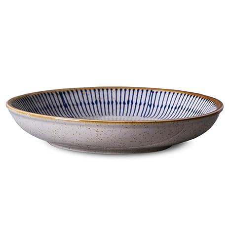 Amazon.com: Plato hondo de porcelana para sopa, diseño ...
