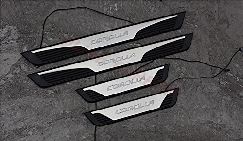 OLIKE For Toyota Corolla 2014 15 16 2017 Fashion Style Car Led Door Sill Scuff Plate Entry Guards Door Sill Protector Trims