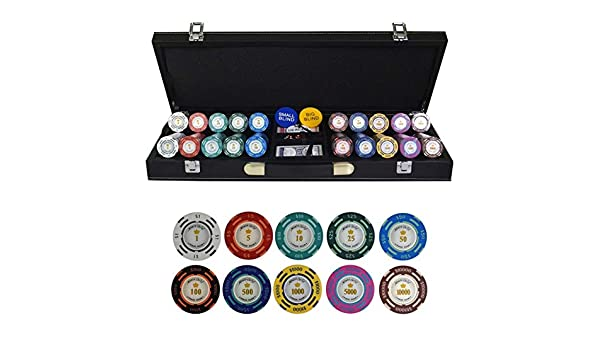 TX GIRL Texas Holdem Poker Chips Conjunto con PU-Maleta De Cuero Y Manteles Dólar Ficha De Póker De La Arcilla Fichas De Casino 200/300 / 400 / 500PCS / Set (Color :