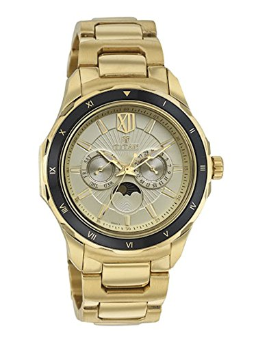 Titan Analog Gold Dial Men's Watch