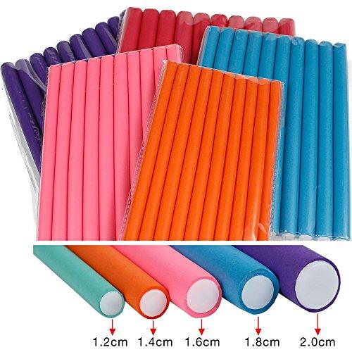 (Magic Hair Foam Curler Roller Set 10pcs NO HEAT Twist Curls Flex Rods Reusable Cable Ties/Wrap to Organize Cords,Length 9.5