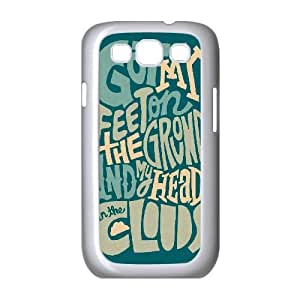 Samsung Galaxy S3 Cases Girl Protective Typography Head In The Cloud, Funny Saying Samsung Galaxy S3 Case Man [White]