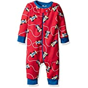 The Children's Place Baby Boys' Long Sleeve One-Piece Pajamas, Race Car/Classic Red 65768, 3-6 Months