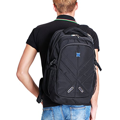 Backpack for Men and Women Fit 17 Inches All 15.6 Inches Laptops Waterproof  Shockproof OUTJOY School 9740ee72e65fd