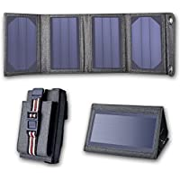 Gshine Portable & Foldable High-Efficiency Solar Charger Panel with Dual USB Ports for Outdoor Activities Apply to Almost All Smart Phone Devices (21W)